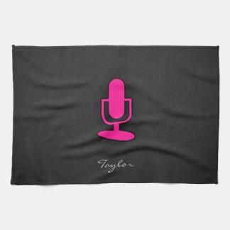 Hot Pink Microphone Towel