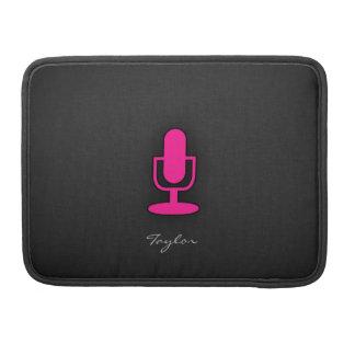 Hot Pink Microphone MacBook Pro Sleeve