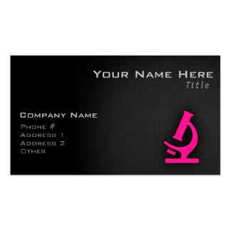 Hot Pink Microscope Business Card