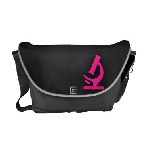 Hot Pink Microscope Courier Bags
