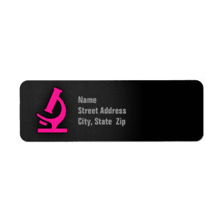 Hot Pink Microscope Label