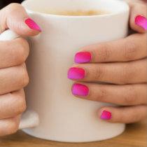 Hot Pink Minx Nail Art