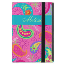 Hot Pink Modern Paisley Name Personalized Case For iPad Mini