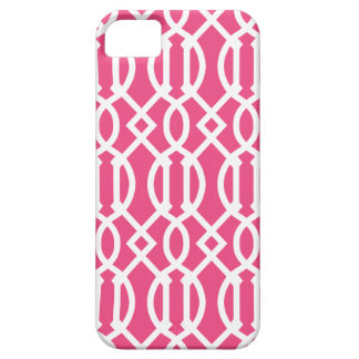 Hot Pink Modern Trellis Pattern iPhone SE/5/5s Case