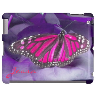 HOT PINK Monarch Butterfly iPad Case