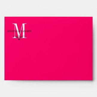 Hot Pink Monogram Chandeliers Envelopes