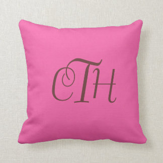 Hot Pink Monogram Pillow Customize