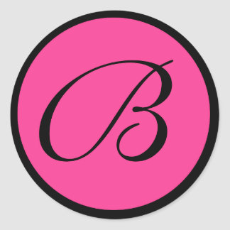 Hot Pink Monogrammed Wedding Envelope Seals