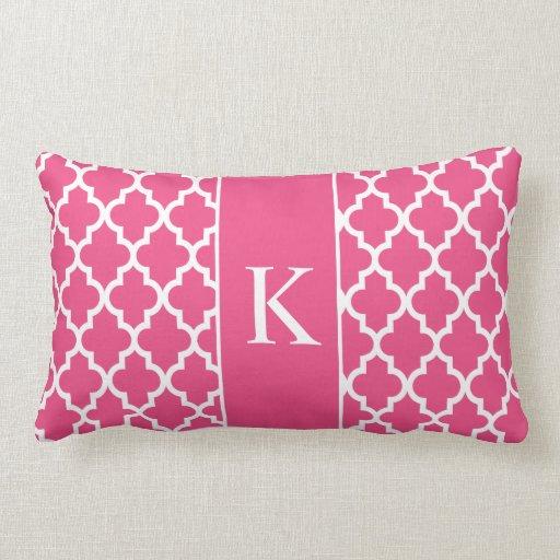 Hot Pink Moroccan Custom Monogram Pillow