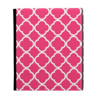 Hot Pink Moroccan Quatrefoil iPad Case