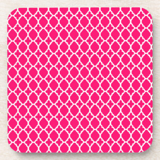Hot Pink Moroccan Tile Coasters