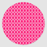 Hot Pink Moroccan Tile Stickers
