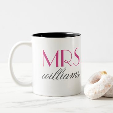 Coffee Themed Hot Pink Mrs. Coffee Mug | Bride-to-Be Gift