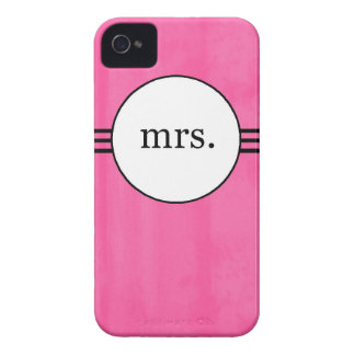 Hot Pink Mrs. Iphone 4 Case