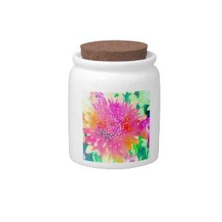 Hot Pink Mum Storage Jar Candy Jars