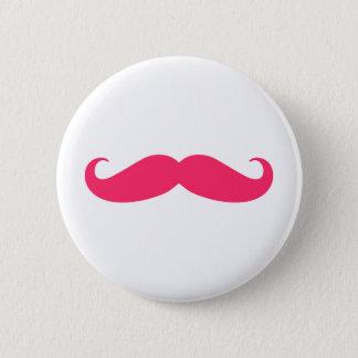 Hot Pink Mustache Button