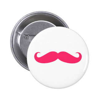 Hot Pink Mustache Button