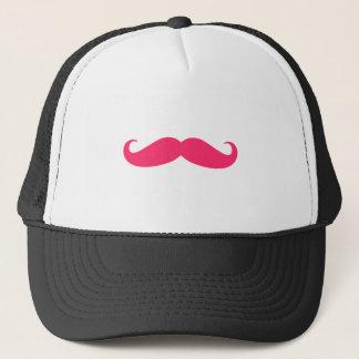 Hot Pink Mustache Trucker Hat