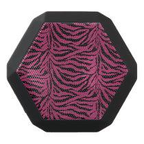 Hot Pink n Black Zebra Animal Print Speaker