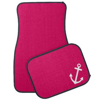 Hot Pink Nautical Love Anchor Car Mat