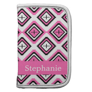 Hot Pink Navajo Inspired Pattern Folio Planners