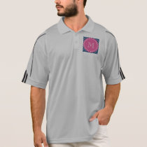 Hot Pink, Navy Blue Chevron | Your Monogram Polo Shirt