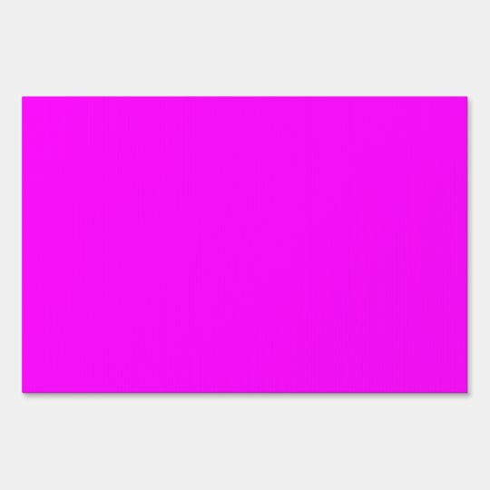 Hot Pink Neon Bright Purple Shocking Pink Color Yard Sign ...