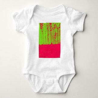 Hot Pink Neon Green Post Modern Art Print Baby Bodysuit