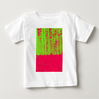 Hot Pink Neon Green Post Modern Art Print Baby T-Shirt