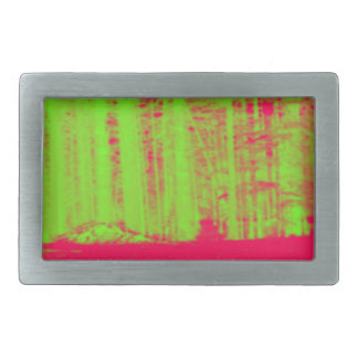 Hot Pink Neon Green Post Modern Art Print Rectangular Belt Buckle