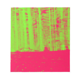 Hot Pink Neon Green Post Modern Art Print Notepad