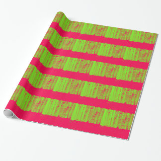 Hot Pink Neon Green Post Modern Art Print Wrapping Paper