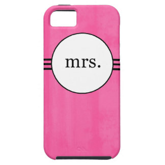 Hot Pink New Bride Mrs. Iphone 5 case