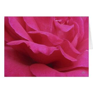 hot pink notecard