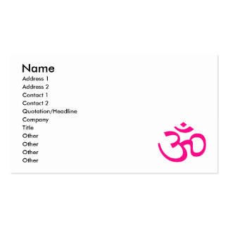 Hot Pink Om or Aum ॐ.png Business Card