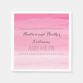 Hot Pink Ombre Wedding Napkins