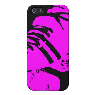 Hot Pink on Black Roller Derby Skate iPhone Case iPhone 5 Cases