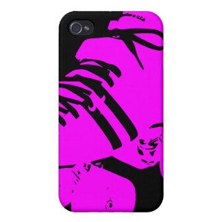 Hot Pink on Black Roller Derby Skate iPhone Case iPhone 4 Cases
