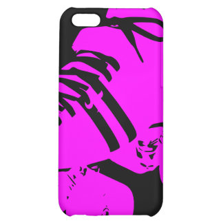 Hot Pink on Black Roller Derby Skate iPhone Case iPhone 5C Cover