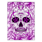 Hot Pink on Pink - Day of the Dead Sugar Skull Card