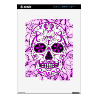 Hot Pink on Pink - Day of the Dead Sugar Skull iPad 3 Decal
