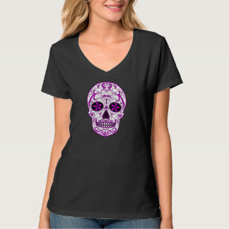 Hot Pink on Pink - Day of the Dead Sugar Skull Tee Shirt