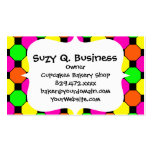 Hot Pink Orange Green Black Squares Hexagons Double-Sided Standard Business Cards (Pack Of 100)