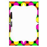 Hot Pink Orange Green Black Squares Hexagons Dry Erase Board
