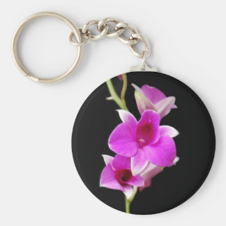 hot pink orchids keychain