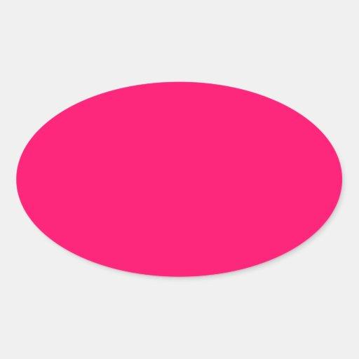 Hot pink oval sticker zazzle