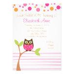 Hot Pink Owl Invitation