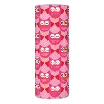Hot Pink Owls Flameless Candle