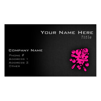 Hot Pink Paintball Double-Sided Standard Business Cards (Pack Of 100)