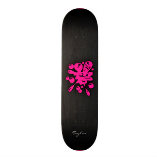 Hot Pink Paintball Skate Boards